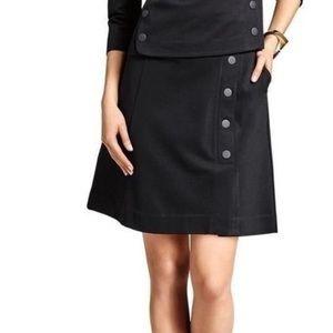 Cabi Black Ponte Utility Skirt #3218 Size 6